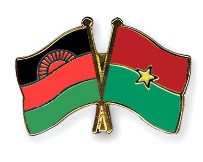 Crossed Flag Pins Malawi-Burkina-Faso