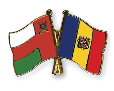 Crossed Flag Pins Oman-Andorra