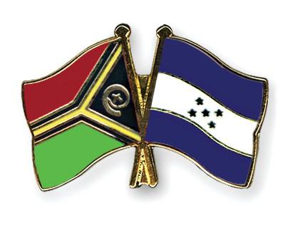 Crossed Flag Pins Vanuatu-Honduras