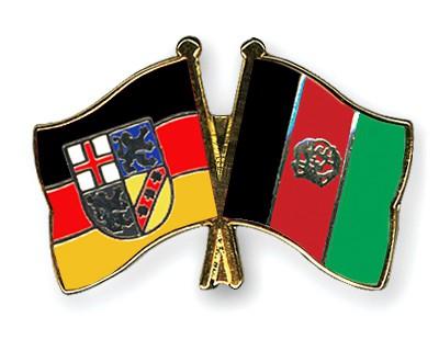 Crossed Flag Pins Saarland-Afghanistan