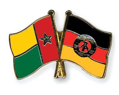 Crossed Flag Pins Guinea-Bissau-GDR