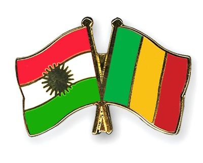 Crossed Flag Pins Kurdistan-Mali