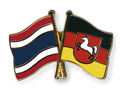 Special Offer Crossed Flag Pins Thailand-Lower-Saxony