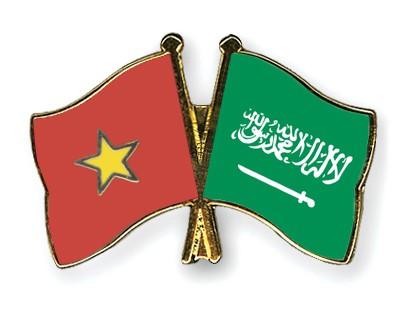 Crossed Flag Pins Vietnam-Saudi-Arabia