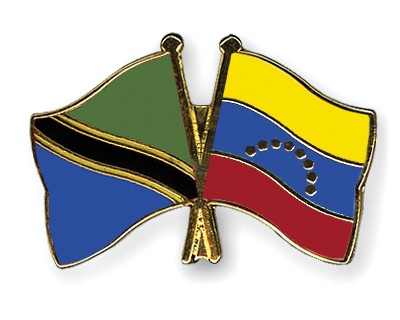 Crossed Flag Pins Tanzania-Venezuela