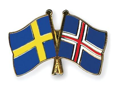 Special Offer Crossed Flag Pins Sweden-Iceland