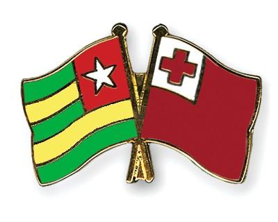 Crossed Flag Pins Togo-Tonga