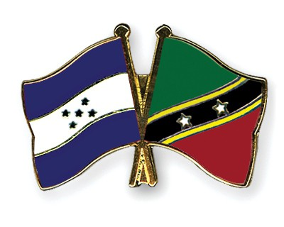 Crossed Flag Pins Honduras-Saint-Kitts-and-Nevis