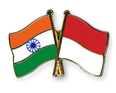 Crossed Flag Pins India-Indonesia