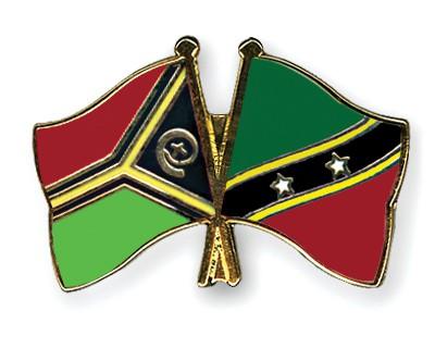 Crossed Flag Pins Vanuatu-Saint-Kitts-and-Nevis