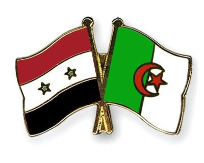 Crossed Flag Pins Syria-Algeria