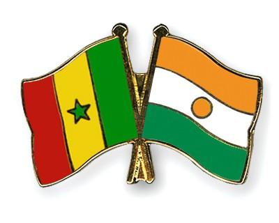 Crossed Flag Pins Senegal-Niger