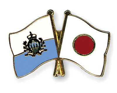 Special Offer Crossed Flag Pins San-Marino-Japan