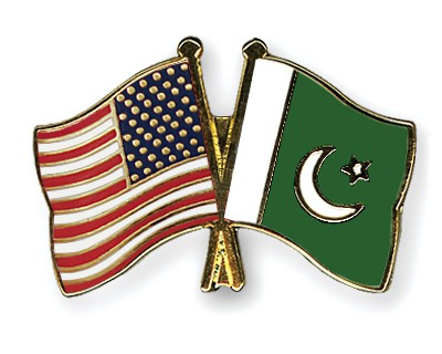 Crossed Flag Pins USA-Pakistan