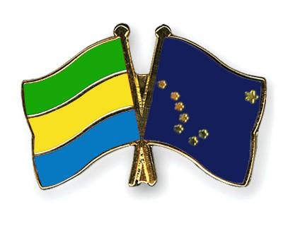 Crossed Flag Pins Gabon-Alaska