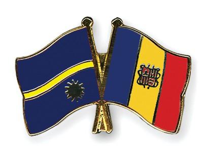 Crossed Flag Pins Nauru-Andorra