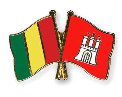 Crossed Flag Pins Guinea-Hamburg