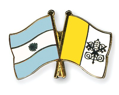 Crossed Flag Pins Argentina-Vatican-City