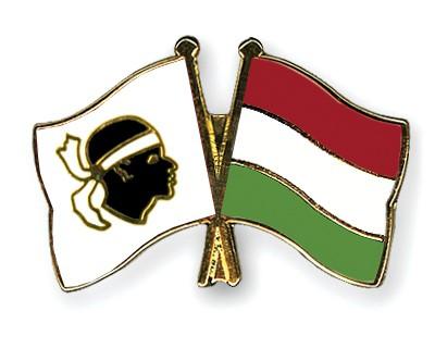 Crossed Flag Pins Corsica-Hungary
