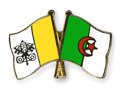 Crossed Flag Pins Vatican-City-Algeria