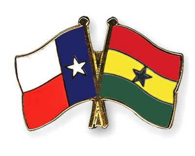 Crossed Flag Pins Texas-Ghana