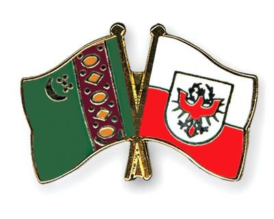 Crossed Flag Pins Turkmenistan-Tyrol