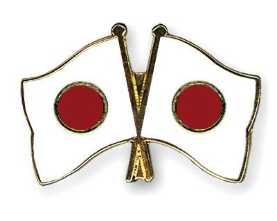 Crossed Flag Pins Japan-Japan