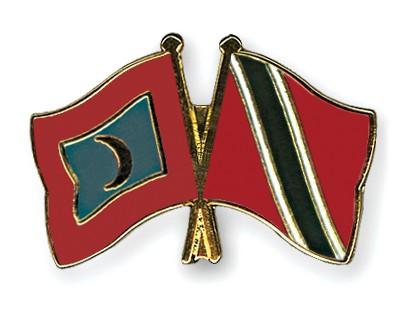 Crossed Flag Pins Maldives-Trinidad-and-Tobago