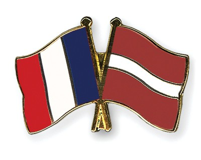 Special Offer Crossed Flag Pins France-Latvia