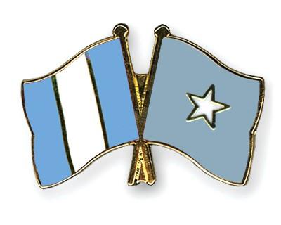 Crossed Flag Pins Guatemala-Somalia