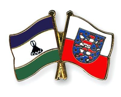 Crossed Flag Pins Lesotho-Thuringia