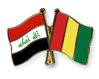 Crossed Flag Pins Iraq-Guinea
