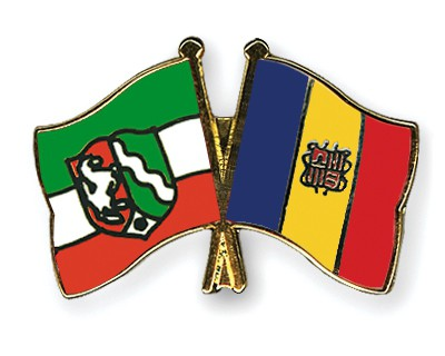 Crossed Flag Pins North-Rhine-Westphalia-Andorra