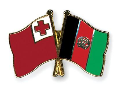 Crossed Flag Pins Tonga-Afghanistan