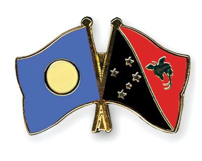 Crossed Flag Pins Palau-Papua-New-Guinea