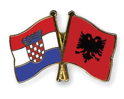 Crossed Flag Pins Croatia-Albania