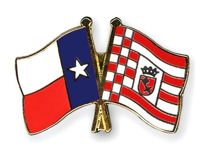 Crossed Flag Pins Texas-Bremen