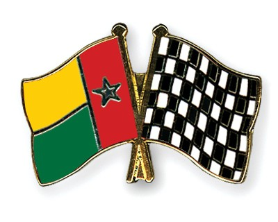 Crossed Flag Pins Guinea-Bissau-Flag-checkered-black-and-white