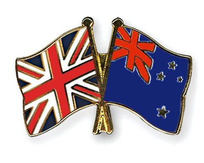 Special Offer Crossed Flag Pins Great-Britain-New-Zealand