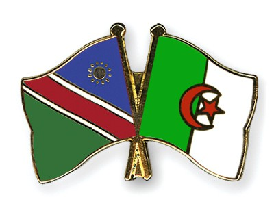 Crossed Flag Pins Namibia-Algeria