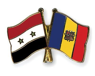 Crossed Flag Pins Syria-Andorra