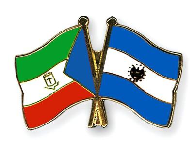 Crossed Flag Pins Equatorial-Guinea-El-Salvador