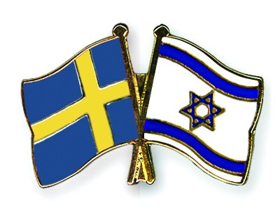 Special Offer Crossed Flag Pins Sweden-Israel