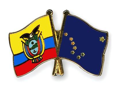 Crossed Flag Pins Ecuador-Alaska