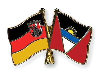 Crossed Flag Pins Rhineland-Palatinate-Antigua-and-Barbuda