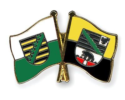 Crossed Flag Pins Saxony-Saxony-Anhalt