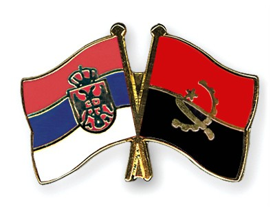 Crossed Flag Pins Serbia-without-Crest-Angola