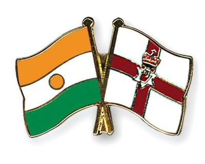 Crossed Flag Pins Niger-Northern-Ireland