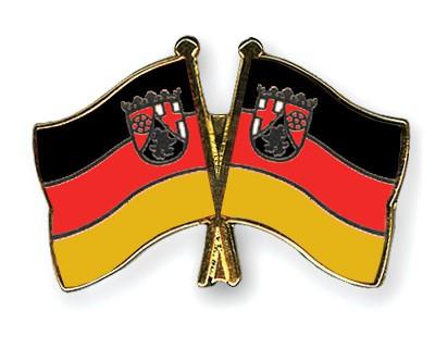 Crossed Flag Pins Rhineland-Palatinate-Rhineland-Palatinate