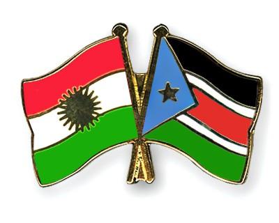 Crossed Flag Pins Kurdistan-South-Sudan